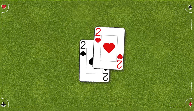 Blackjack School: How to Play a Pair of 2s