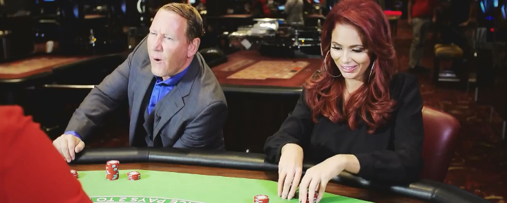 Ray Parlour and Amy Childs playing Blackjack with 888casino