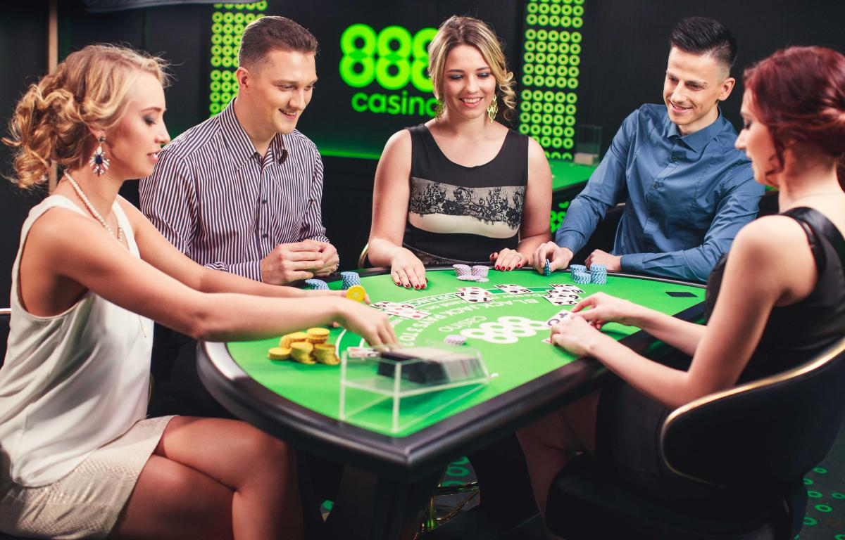 It feels real: Blackjack players are having a good time while playing