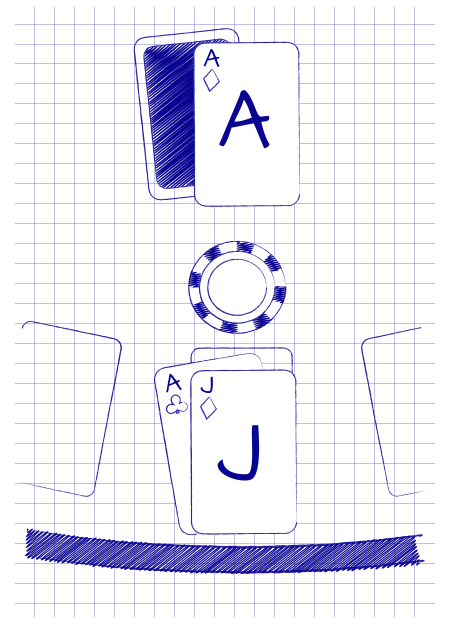 BLACKJACK VS. DEALER ACE PROBABILITY