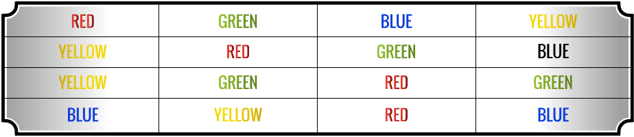 Color segment table