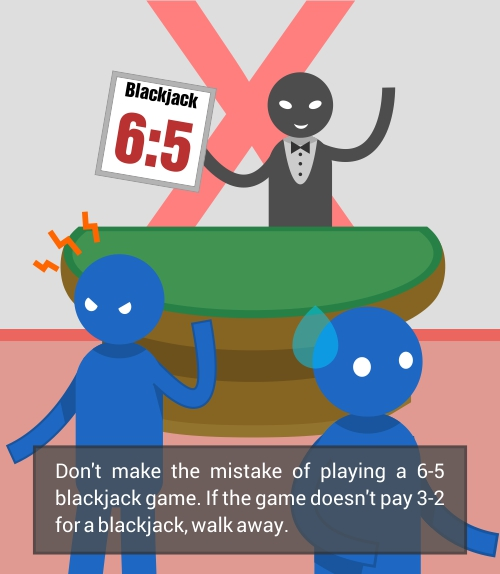 don`t play 6:5 blackjack table