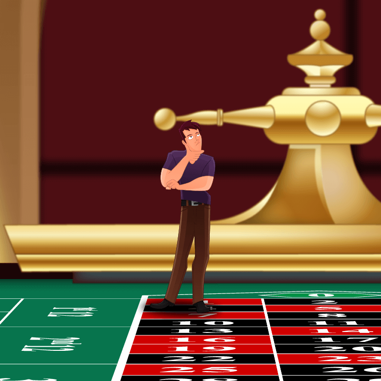 Roulette Player Standing