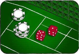 craps dice shows 5 and 1