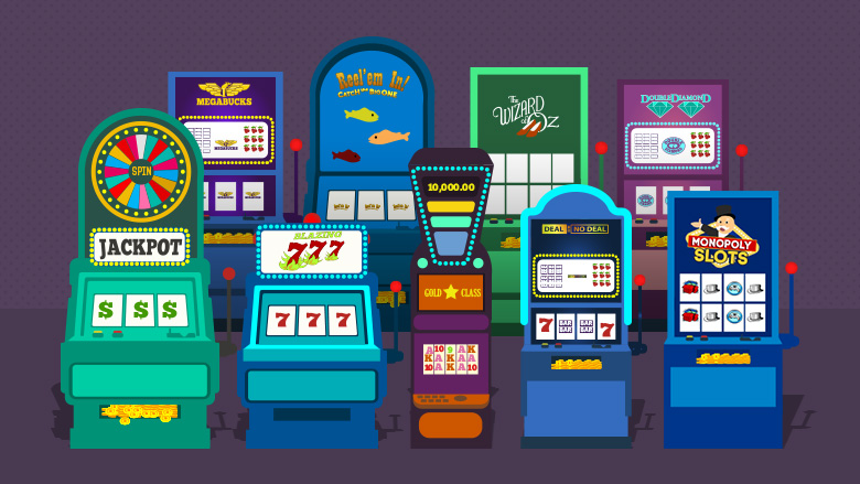 Nine types of casino slot machines games