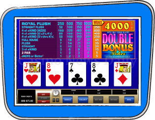 THE DOUBLE BONUS POKER PAY TABLE
