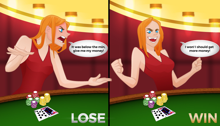 Blackjack cheat: Betting over or under the table minimum