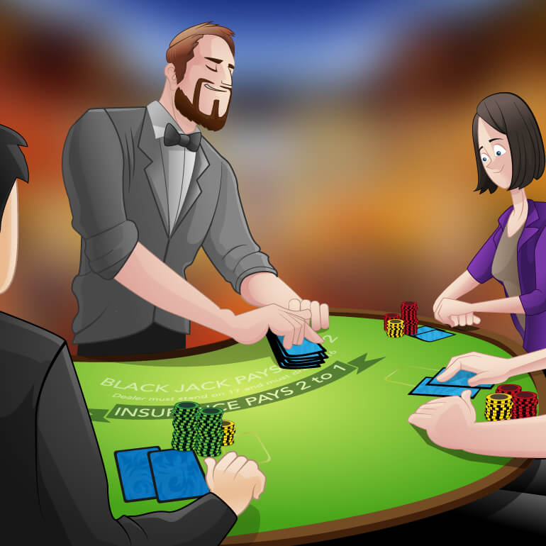 Blackjack table game