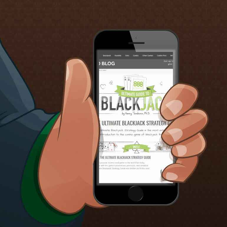 Blackjack Strategy guide from a mobile device