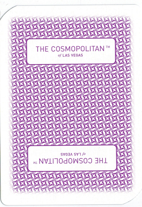 the backside of the card used by the Cosmopolitan Casino, in the largest image size that this blog will allow -  back of a card image