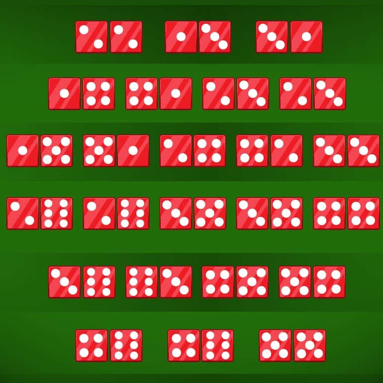 24 other dice combinations