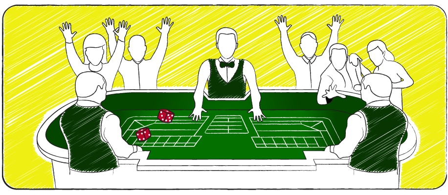 People playing Craps