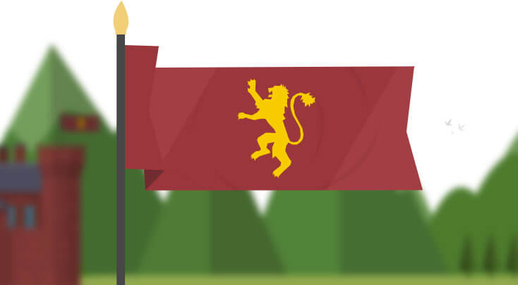 game of thrones house lannister flag