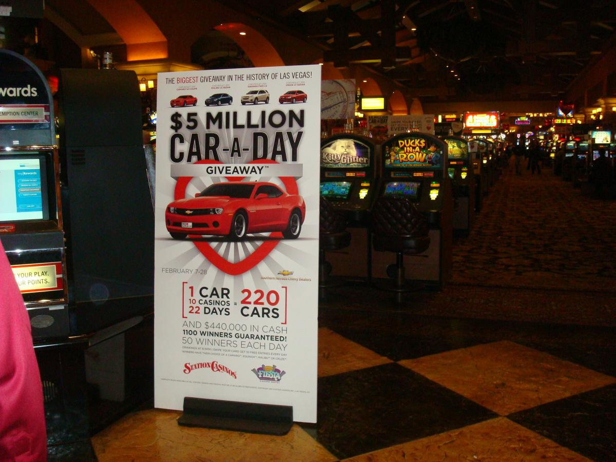 casino car giveaways commercials