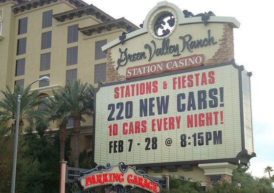 stations casino's car giveaway