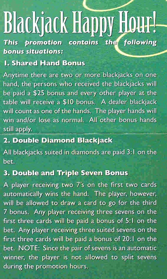 blackjack brochure