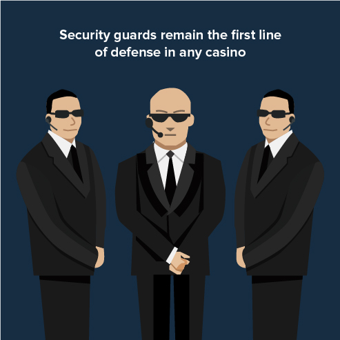 security guards remain the first line of defense in any casino