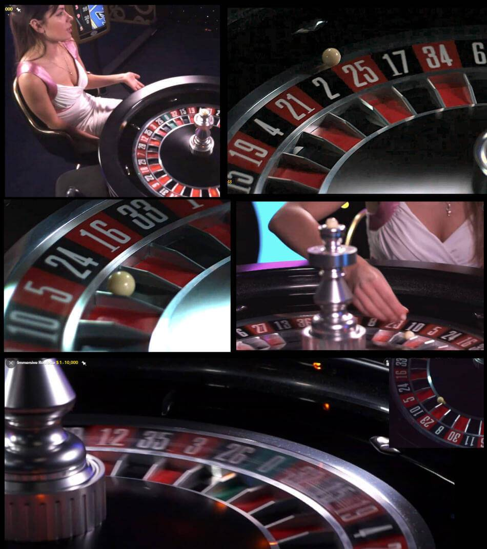 immersive roulette live dealer