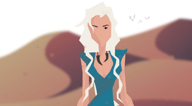 Game of Thrones khaleesi`s Cartoon