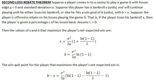 second loss rebate theorem