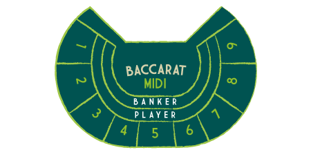 Midi Baccarat Table