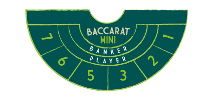 Mini Baccarat Table