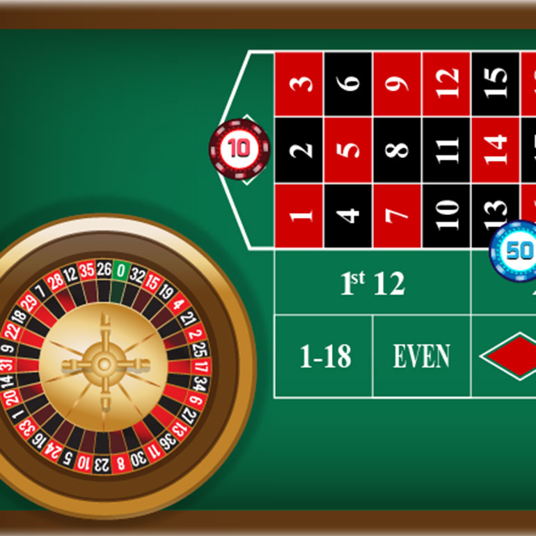 Online roulette table