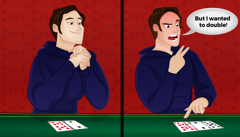 Blackjack cheat: Pretending they'd wanted to double