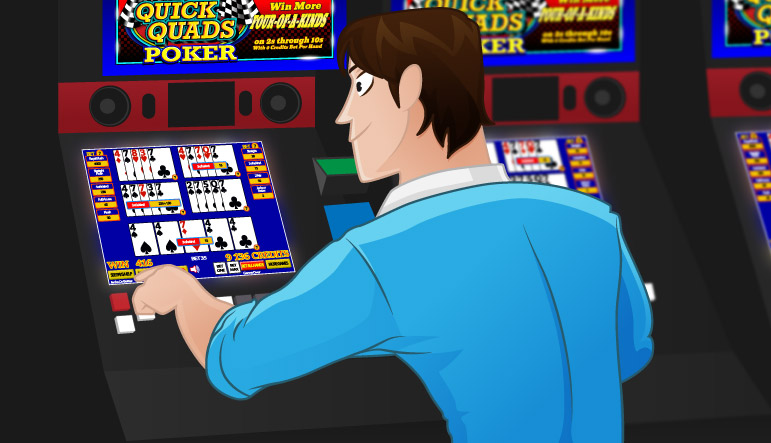 Quick Quads Video Poker Player