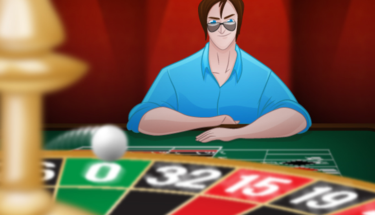 Roulette prediction: Roulette player is watching the roulette wheel spinning