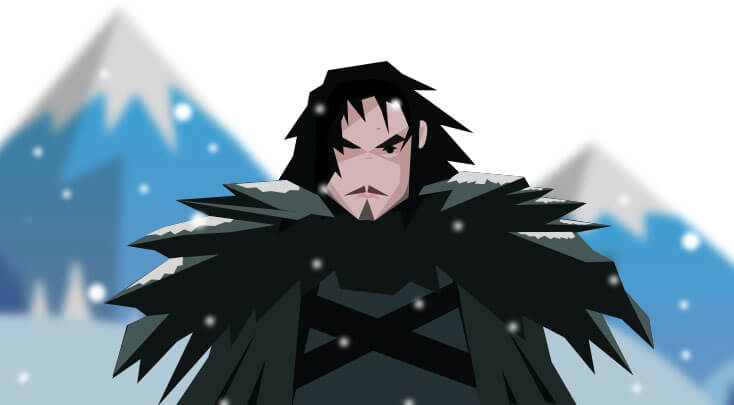 Game of Thrones Jon Snow`s Cartoon