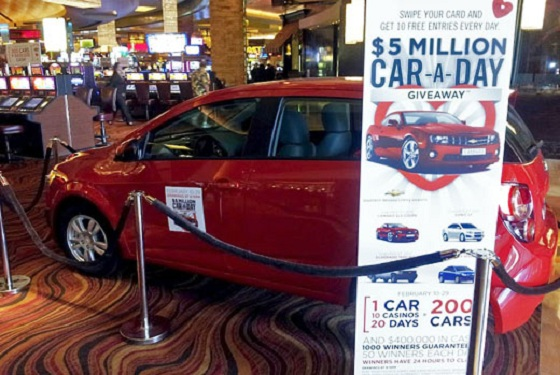 car giveaway in a casino