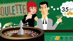 Roulette table cartoon
