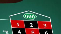 Roulette 000 Table Layout