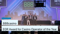 888casino Wins Casino Operator of the Year 2019 at the EGR Awards