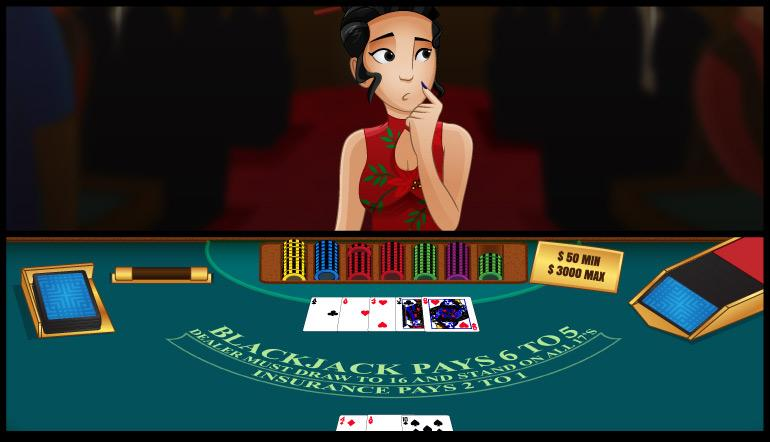 6 to 5 Blackjack: A player is considering her options